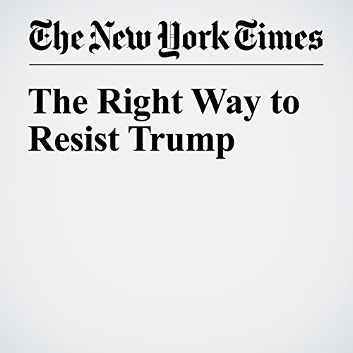 The Right Way to Resist Trump audiobook cover art