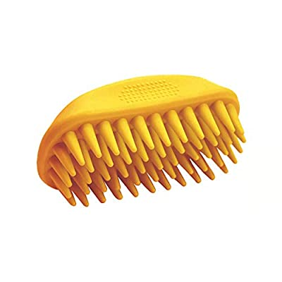 EGI Pet Silicone Shampoo Brush for Long & Short Hair, Anti-Skid Rubber Dog Cat Pet Mouse Grooming Shower Bath Brush Massage Comb Medium Large Pets Dogs Cats (Orange) from Elevate Goods inc.
