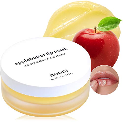 NOONI Applebutter Overnight Lip Mask | Korean Skincare for Cracked Lip Repair | Vegan, Cruelty-free, Gluten-free, Paraben-free