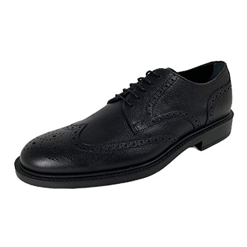 Tod's C81 Scarpa Classica Derby Black Hammered Leather Shoe Man [6.5]