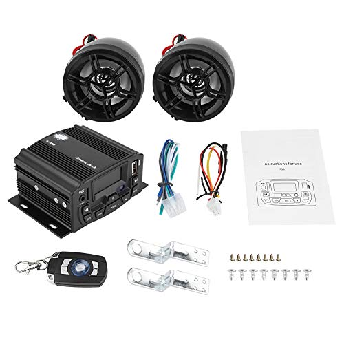 Lowest Price! Hlyjoon Motorcycle Audio Sound System with LCD Display and Remote Control Waterproof M...