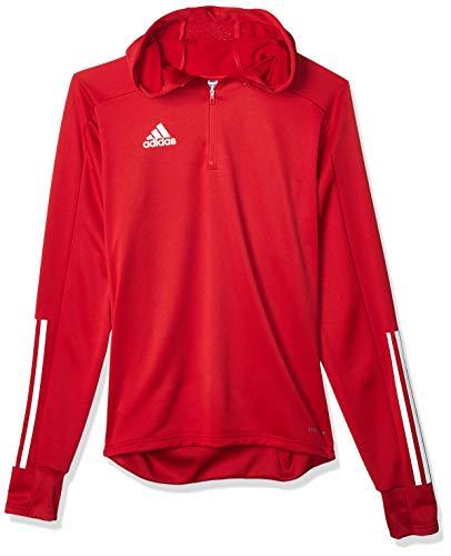 adidas CON20 TK Hood Sweatshirt, Hombre, Team Power Red/White, XS