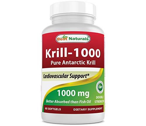 Best Naturals Krill Oil 1000 mg 60 Softgels