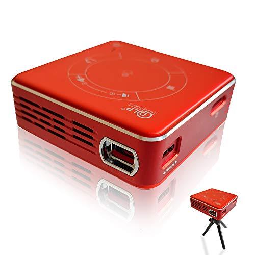 EXXO X2095RM 4K Mini Proiettore 3D HD 1080P, ultra leggero 188g, WiFi & Bluetooth, cinema in casa, Touchpad, 3D VR & DLP, multischermo, per iPhone e Android, USB, HDMI, batteria fino a 2 ore