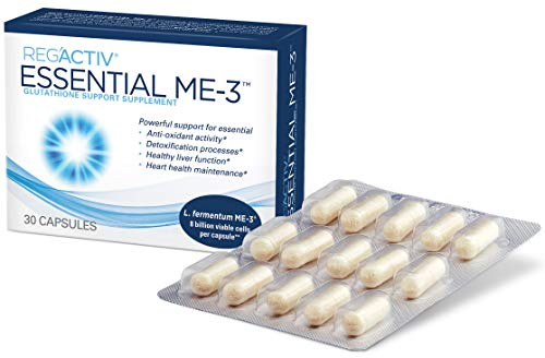 Reg Activ Essential ME-3, 30 Capsules. A Glutathione-producing Probiotic That Delivers Glutathione to The Intestine for Efficient Guthatione Supplementation