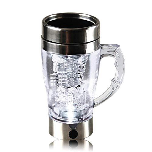 Vaso Mezclador Automático Taza Perezosa Eléctrica Taza De Café Casera Taza Personalizada Creativa Portátil,Silver