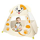 IREENUO Kids Pets Play Tent No Assembly Required Foldable Playhouse for Children Puppy Indoor and Outdoor Cute Dog Tent