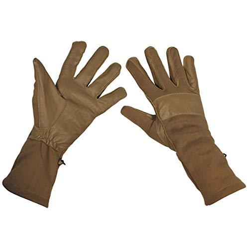 BW Kampfhandschuhe, coyote, Lederbesatz Größe: M