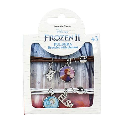 Cerdá Disney | Frozen 2 | Exklusive Premium Blätter Amulett Armbänder Armreif | Mädchen Tägliches Zubehör | Kinderschmuck | Mädchen Juwelen | Kostüm | Freundschaftsarmband |