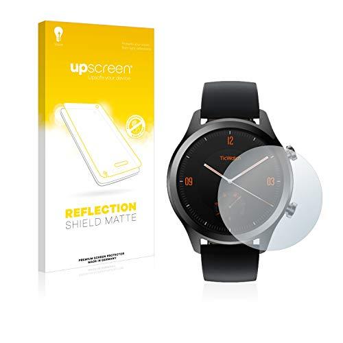 upscreen Entspiegelungs-Schutzfolie kompatibel mit Mobvoi Ticwatch C2 / E2 – Anti-Reflex Bildschirmschutz-Folie Matt