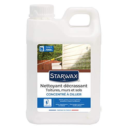 STARWAX Nettoyant Décrassant pour Toitures, Murs, et Sols Extérieurs - 2L - Une Formule Performante pour Nettoyer et Décrasser Sans Efforts