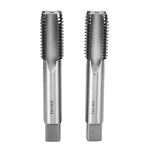 2Pcs Taper and Plug Tap, 1-1/16-8UN High Speed Steel Machine Tap for Machinery Manufacturing Industry, First Hand Tap
