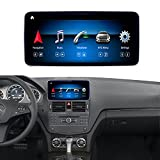 Road Top Android 10 Car Stereo 10.25' Car Touch Screen for Mercedes Benz C Class W204 C200,C230,C250,C300,C350 2008 to 2010 Year, with Wireless Carplay Android Auto Split Screen