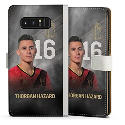 DeinDesign Klapphülle kompatibel mit Samsung Galaxy Note 8 Duos Handyhülle aus Leder weiß Flip Hülle Belgien RBFA Offizielles Lizenzprodukt