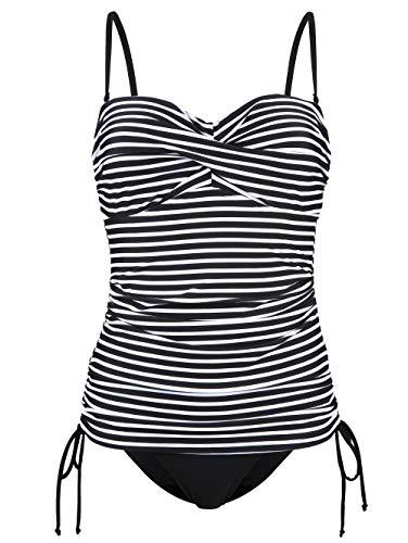 Maritim Badeanzug im Streifen-Look schwarz/weiß
