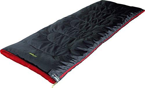 High Peak Ranger Saco de Dormir, Antracita/Rojo, 180 x 75 cm