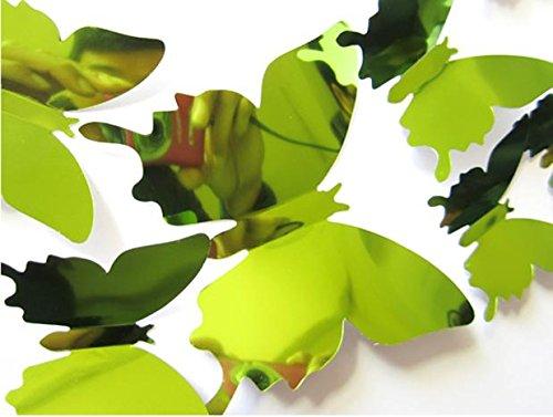 Wall Sticker Wall Stickers Decal Butterflies 3D Mirror Wall Art Home Decors Green Home & Garden Home Decor