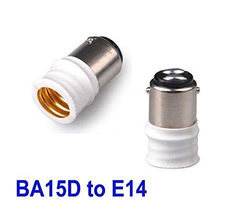 2x B15/BA15D Auf E14 Adapter Lampenfassungen Glühbirnen Konverter Halter Neu DE