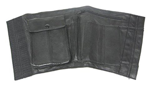 Nappa Leather Black Ankle Holster Travel Wallet