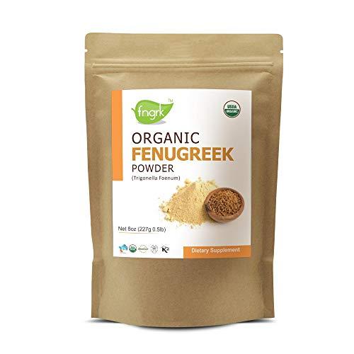 USDA CERTIFIED Organic Fenugreek Powder (TRIGONELLA FOENUM)(100% NATURAL , ORGANICALLY GROWN ) (227g / (1/2 lb) / 8 ounces)