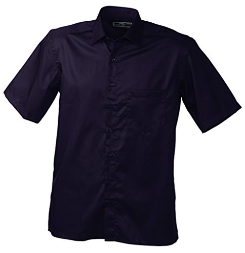 JAMES & NICHOLSON Chemise Mode, Repassage Facile (3XL, Aubergine)