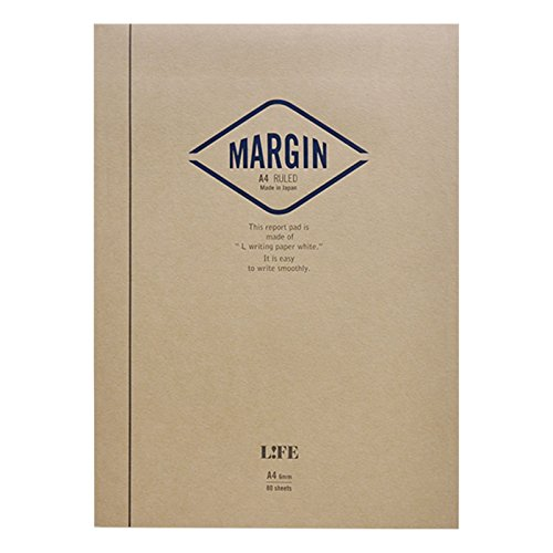 ライフ レポート用紙 マージン A4 横罫 R752