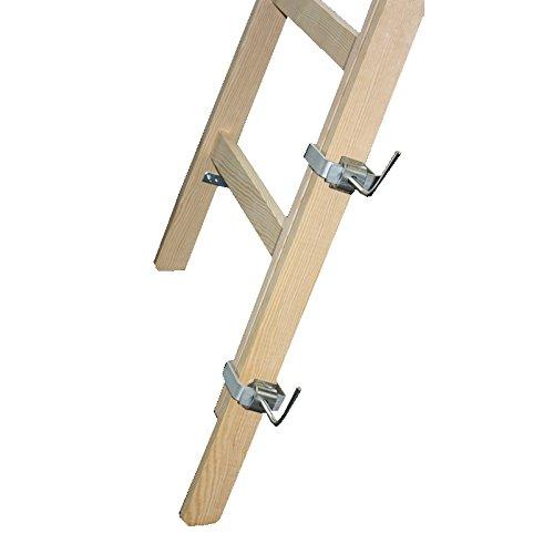 2x Verlängerung Leiter 120cm für Holzleiter inkl. 4 Klammern Malerleiter Holmverlängerung Leiterverlängerung