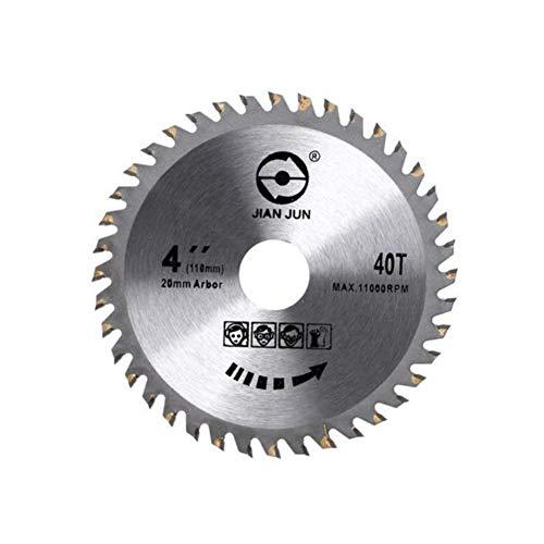 KEKEYANG Herramienta de máquina de pulir 4 pulgadas 30T / 40T circular discos de corte de madera hoja de sierra, hojas de sierra circular de acero de aleación Herramientas (Color : 40T)