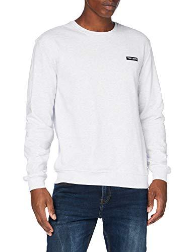 Teddy Smith 10814368D Sweatshirt, White Melange, 2X-Large Ho