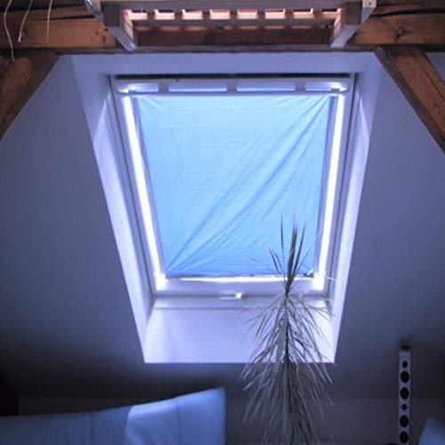 eXsun Sonnenschutz für Velux & Roto Dachfenster | Ohne Bohren mit Saugnäpfen *KraftHaftSauger Made in Germany!* | | Rollo Braas | Fakro | Verdunklungsrollo - Größe: Velux 608 | S08 = 96x115cm