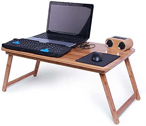 Juciyuan Mesa de Estudio de Escritorio de computadora portátil de la Cama Plegable (Size : 62 * 45 * 26cm)