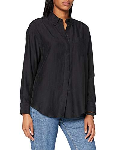 GANT Damen D2. STARFALL Relaxed Shirt Hemd, Black, 32