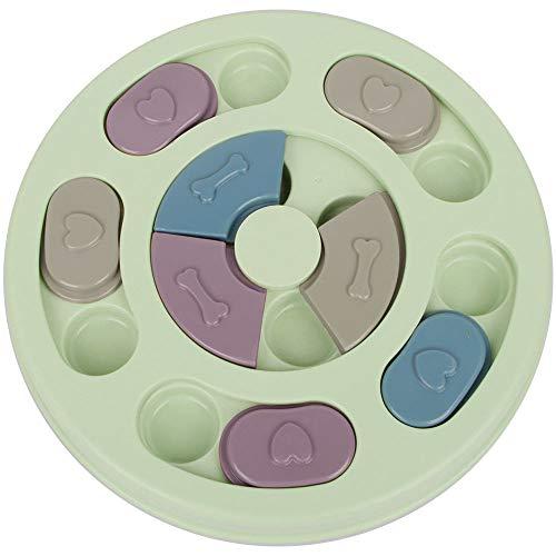 ZoneYan Hund Puzzle Feeder Spielzeug, Hundespielzeug Intelligenz, Hunde Lernspielzeug, Interaktives Spielzeug für Hunde, Haustier-Puzzle-Spielzeug, Hund Treat Dispenser Rundes