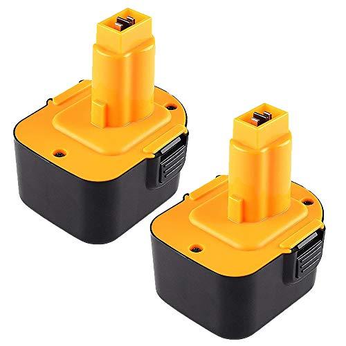 Hochstern 2 Pack 3.0Ah Ni-MH Reemplazo para Dewalt batería 12V DC9071 DE9037 DE9071 DE9072 DE9074 DE9075 DW9071 DW9072 DE9501 152250-27 397745-01