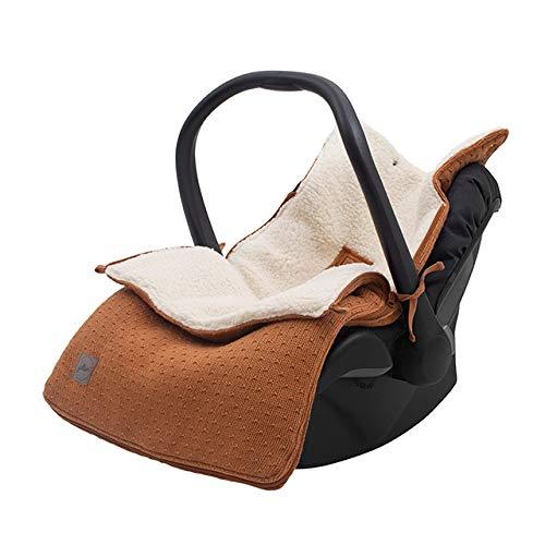 Jollein 025-811-65353 Bliss Knit - Saco para silla de bebé (82 x 42 cm), color marrón