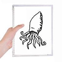 タコの海洋生物の漫画イラスト 硬質プラスチックルーズリーフノートノート