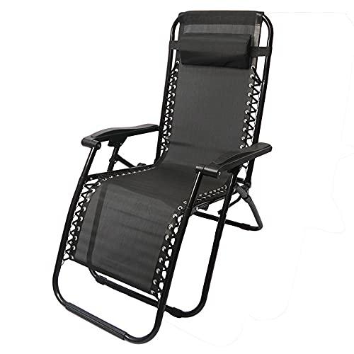 Bodycarewl Ultralight Folding Camping Stuhl, Liegewinne Siesta Strandstuhlgarten Patio Outwell Tragbare Liegestuhl, Sonnenliege mit Kissen, auf Strand, Angeln, Gartenrawn, Picknick