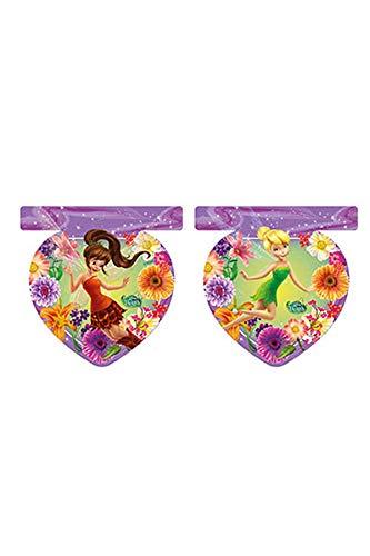 Procos guirnalda de banderines de plástico campanilla Fairies, Multicolor, 5pr85634