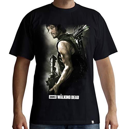 The Walking Dead T-Shirt: Daryl Dixon mit Armbrust (schwarz) (M)