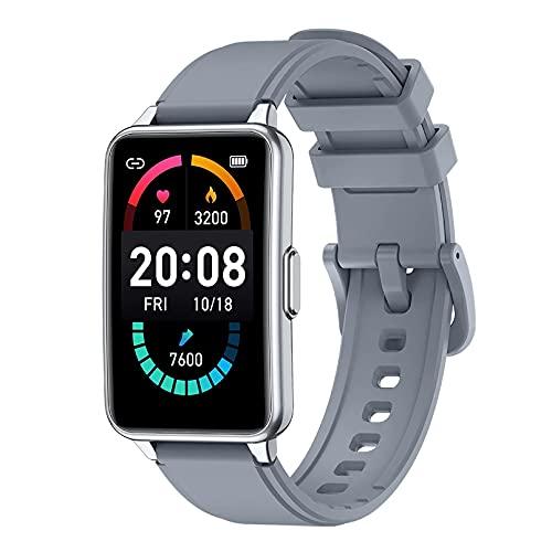 ZGZYL P57 Smart Watch Señoras Reloj Deportivo Impermeable con Presión Arterial, Oxígeno, Monitoreo De Frecuencia Cardíaca Seguimiento De Tarifas Respiratorias Tracker Strapewatch Pedómetro,C