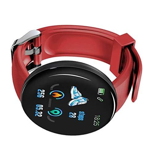 IPOTCH Smart Watch Training Recorder Mensaje Recordatorio BT 4.0 Pulsera - a Estrenar - Rojo