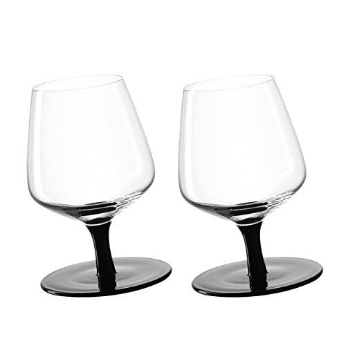 LEONARDO 034923 Cognacschwenker/Kippelschwenker - Glas - schwarz/klar