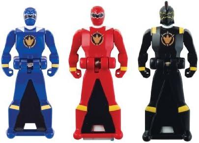 Power Rangers Super Megaforce Dino Thunder Legendary Ranger Key Pack Red Blue Black product image