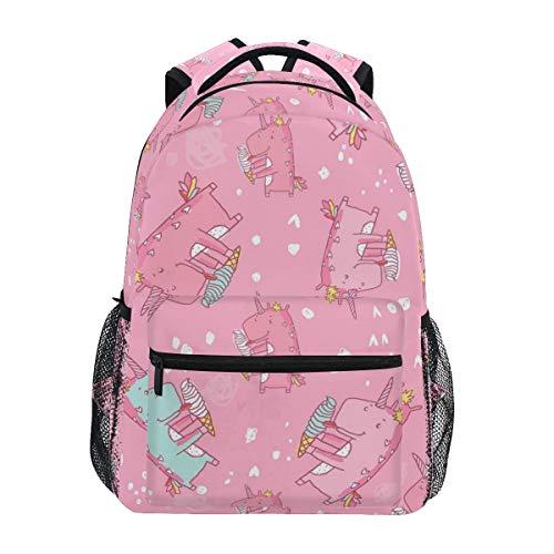 Cute Unicorn Backpack BookBag for Boys Girls Elementary School 2021816