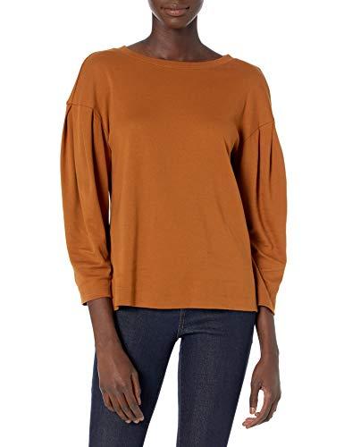 Daily Ritual Pima Cotton and Modal Interlock Balloon-Sleeve Top Camisa,