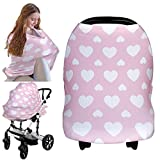 Carseat Canopy Cover - Baby Car Seat Canopy KeaBabies - All-in-1 Nursing Breastfeeding Covers Up - Baby Car Seat Canopies for Boys, Girls - Stroller Covers - Shopping Cart Cover (Sweetheart)