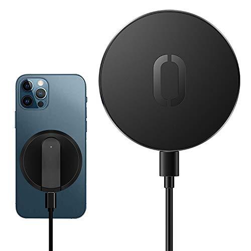 harupink Cargador magnético inalámbrico de 15 W, cargador rápido de inducción para iPhone 12 Pro Max Mini, cargador rápido de 15 W para iPhone 11, XS, X, Huawei, Xiaomi (negro)