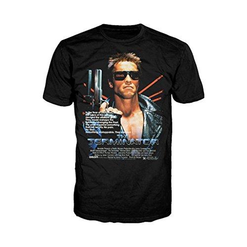 Men's The Terminator Movie 1984 Poster T-shirt, S to XXL