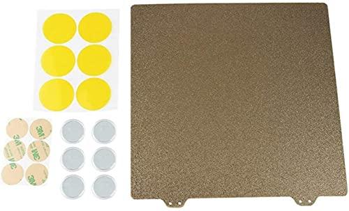 Piezas de Cama Caliente de Impresora 3D de 220 mm Placa de Acero en Polvo Pei con Textura de Doble Capa para Piezas de Impresora Anet A8 A6 Creality Ender 5 Piezas de Repuesto