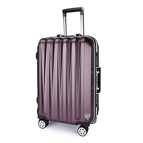 Trolley Koffer XYDBB Hartschalenkoffer Fashion Rolling Frame Trolley Business weitermachen Suitcasetravel Boarding Case auf Rädern 26'dunkelrot